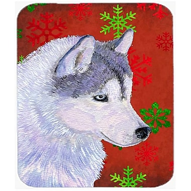 Carolines Treasures Siberian Husky Red and Green Snowflakes Christmas Mouse Pad, Hot Pad or Trivet(CRLT23958)