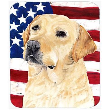 Carolines Treasures Usa American Flag With Labrador Mouse Pad, Hot Pad Or Trivet(CRLT20683)