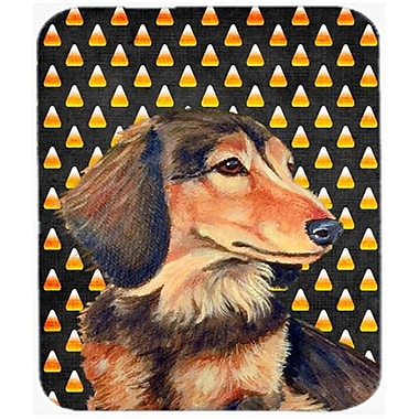 Carolines Treasures Dachshund Candy Corn Halloween Portrait Mouse Pad, Hot Pad or Trivet(CRLT24080)