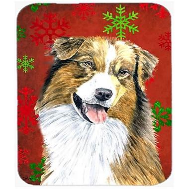 Carolines Treasures Australian Shepherd Snowflakes Holiday Christmas Mouse Pad, Hot Pad Or Trivet(CRLT22950)