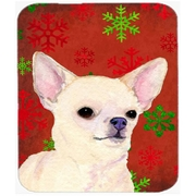 Carolines Treasures Chihuahua Red and Green Snowflakes Christmas Mouse Pad, Hot Pad or Trivet(CRLT24073)