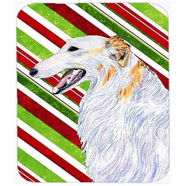 Carolines Treasures Borzoi Candy Cane Holiday Christmas Mouse Pad, Hot Pad Or Trivet(CRLT23052)