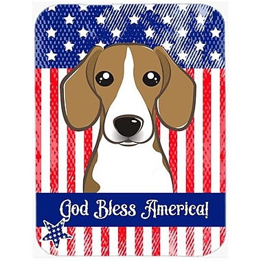 Carolines Treasures God Bless American Flag with Beagle Mouse Pad, Hot Pad or Trivet(CRLT93853)