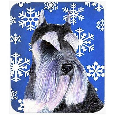 Carolines Treasures Schnauzer Winter Snowflakes Holiday Mouse Pad, Hot Pad or Trivet(CRLT22496)