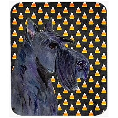 Carolines Treasures Scottish Terrier Candy Corn Halloween Portrait Mouse Pad, Hot Pad or Trivet(CRLT23709)