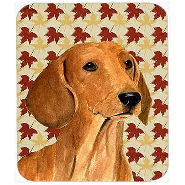 Carolines Treasures 9.5 x 8 in. Dachshund Fall Leaves Portrait Mouse Pad, Hot Pad or Trivet(CRLT20324)