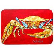 Carolines Treasures Crab Blue on Red, Sr. Mouse Pad, Hot Pad or Trivet(CRLT24256)