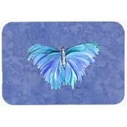 Carolines Treasures Butterfly on Slate Blue Mouse Pad, Hot Pad or Trivet(CRLT24529)