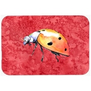 Carolines Treasures 9.5 x 8 in. Lady Bug on Red Mouse Pad, Hot Pad or Trivet(CRLT24628)