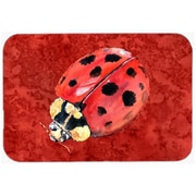 Carolines Treasures 9.5 x 8 in. Lady Bug on Deep Red Mouse Pad, Hot Pad or Trivet(CRLT24642)
