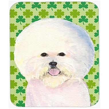 Carolines Treasures Bichon Frise St. Patricks Day Shamrock Portrait Mouse Pad, Hot Pad Or Trivet(CRLT20869)