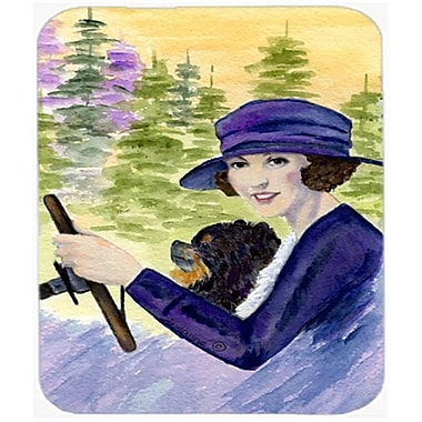 Carolines Treasures Lady Driving With Her Pomeranian Mouse Pad, Hot Pad or Trivet(CRLT22570)