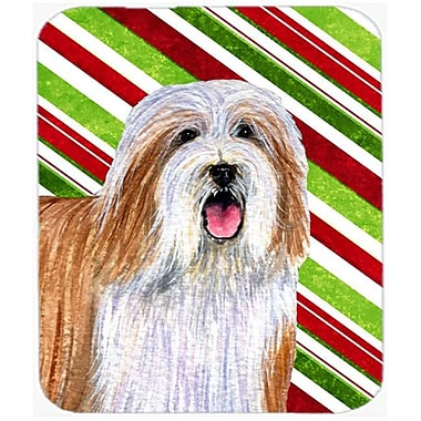 Carolines Treasures Bearded Collie Candy Cane Holiday Christmas Mouse Pad, Hot Pad Or Trivet(CRLT24985)