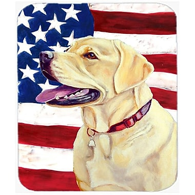 Carolines Treasures 9.5 x 8 in. USA American Flag with Labrador Mouse Pad, Hot Pad or Trivet(CRLT20585)