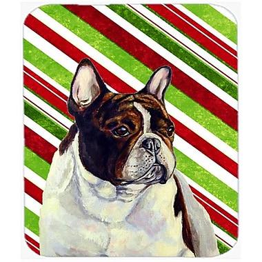 Carolines Treasures French Bulldog Candy Cane Holiday Christmas Mouse Pad, Hot Pad Or Trivet(CRLT25203)