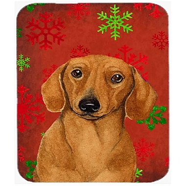 Carolines Treasures Dachshund Red And Green Snowflakes Christmas Mouse Pad, Hot Pad Or Trivet - 7.75 x 9.25 In.(CRLT25807)