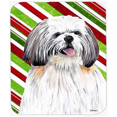 Carolines Treasures Shih Tzu Candy Cane Holiday Christmas Mouse Pad, Hot Pad or Trivet(CRLT22332)