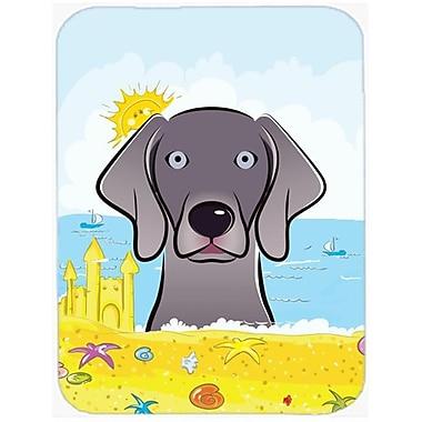 Carolines Treasures Weimaraner Summer Beach Mouse Pad, Hot Pad or Trivet(CRLT93804)