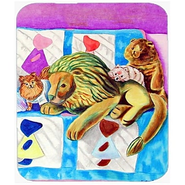 Carolines Treasures 9.5 x 8 in. Red and White Pomeranians on the Couch Mouse Pad, Hot Pad or Trivet(CRLT20549)