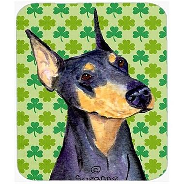 Carolines Treasures Doberman St. Patricks Day Shamrock Portrait Mouse Pad, Hot Pad Or Trivet(CRLT21003)