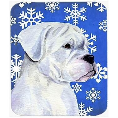 Carolines Treasures Boxer Winter Snowflakes Holiday Mouse Pad, Hot Pad or Trivet(CRLT23775)