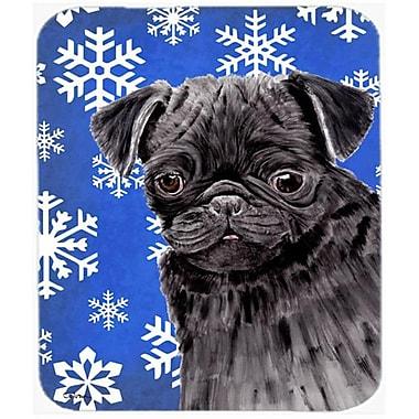 Carolines Treasures Pug Winter Snowflakes Holiday Mouse Pad, Hot Pad or Trivet(CRLT22460)