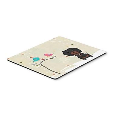 Carolines Treasures Christmas Presents Between Friends Dachshund Black & Tan Mouse Pad, Hot Pad or Trivet(CRLT119365)