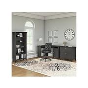 "Bush Furniture Salinas 55""W Corner Desk with Lateral File Cabinet and 5-Shelf Bookcase, Vintage Black (SAL013VB)"