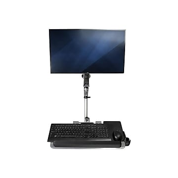 """StarTech Wall Mounted Computer Workstation - Articulating Monitor Arm Adjustable, Up to 30"""", Silver (WALLSTSI1)"""