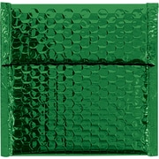 "Glamour Bubble Mailers, 7"" x 6 3/4"", Green, 72/Case (GBM0706G)"