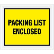 "Tape Logic® ""Packing List Enclosed"" Envelopes, 10"" x 12"", Yellow, 500/Case (PL428)"