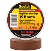 """3M 35 Colored Electrical Tape, 7 Mil, 3/4"""" x 66', Brown, 10/Case (T96403510PKN)"""