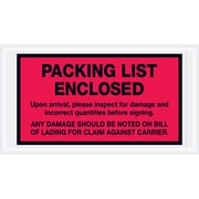 "Tape Logic® ""Packing List Enclosed"" Envelopes, 5 1/2"" x 10"", Red, 1000/Case (PL469)"