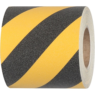 Tape Logic® Heavy-Duty Striped Anti-Slip Tape, 28 Mil, 6