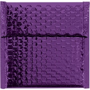 "Glamour Bubble Mailers, 7"" x 6 3/4"", Purple, 72/Case (GBM0706PL)"