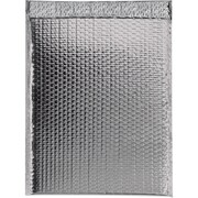 "Glamour Bubble Mailers, 16"" x 17 1/2"", Silver, 48/Case (GBM1617S)"