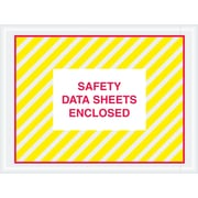"Tape Logic® SDS Envelopes, ""Safety Data Sheets Enclosed"", 4 1/2"" x 6"", Printed Clear, 1000/Case (PL498)"