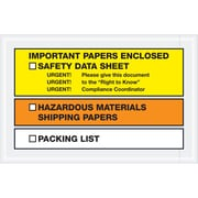 "Tape Logic® SDS Envelopes, ""Important Papers Enclosed"", 6 1/2"" x 10"", Yellow/Orange, 1000/Case (PL497)"