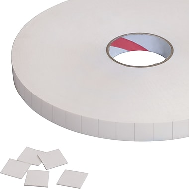 Tape Logic® Removable Double Sided Foam Squares, 1/32