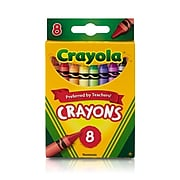 Crayola Crayons Peggable Assorted Colors, 8 Per Box (52-3008)