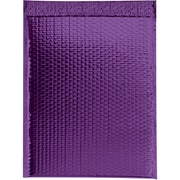 "Glamour Bubble Mailers, 13"" x 17 1/2"", Purple, 100/Case (GBM1317PL)"