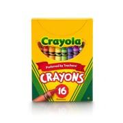 Crayola Non-Peggable Crayons, Assorted Colors, 16 Per Box (52-0016)