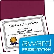 "Oxford 11.25""W x 8.88""L Certificate Holders, Burgundy, 5/Pack (OXF 29900585BGD)"