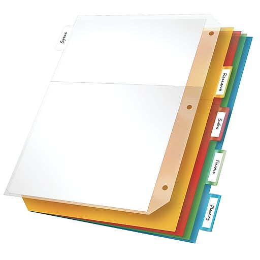 Shop Staples For Cardinal® Poly Pockets With Index Tabs