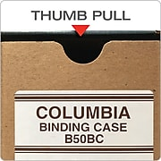 """Globe-Weis® Columbia™ Binding Cases, Letter - Regular Arch, Brown, 8 1/2""""H x 11""""W, 1/Ea"""