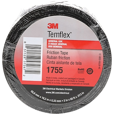 3M 1755 Cotton Friction Tape, 13 Mil, 3/4