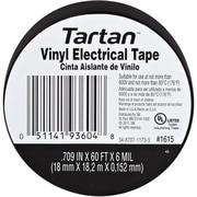 """3M 1615 Electrical Tape, 6 Mil, 3/4"""" x 60', Black, 20/Case (T964161520PK)"""