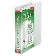 "Cardinal XtraLife Speedy 1"" 3-Ring View Binder, White (CRD59100)"