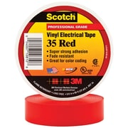 "3M 35 Colored Electrical Tape, 7 Mil, 3/4"" x 66', Red, 10/Case (T96403510PKR)"