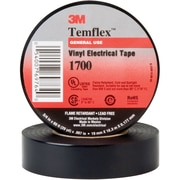 "3M 1700 Electrical Tape, 7 Mil, 3/4"" x 60', Black, 100/Case (T9641700)"